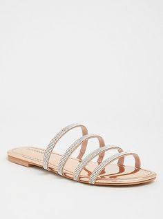 Rose Gold Rhinestone Pave Sandal (Wide Width), ROSE GOLD, hi-res