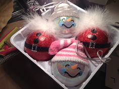 Christmas ornament, Snowman, Santa