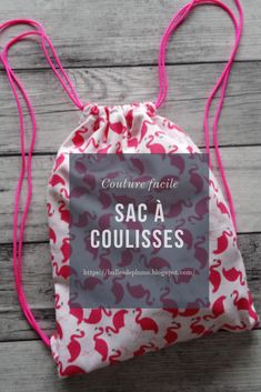 Sac à coulisses - couture facile Bag - easy sewing - Fanni Stitch, Lady Rockers, Blog Couture, Couture Sewing, Fashion Project, Simple Bags, Couture Dresses, Diy Fashion, Easy