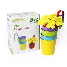 Metallo ferro vasi da fiori, Greenmall Hanging Planter ba...
