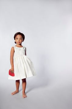 Flower Girls Dress piega avorio con lombo di VesperClothier