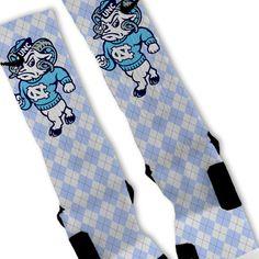 UNC Tarheels North Carolina Custom Nike Elite Socks