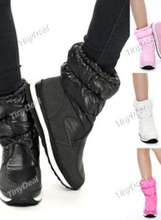 Lady Warm Middle Boots Flat Heel Boots Snow Boots for Winter, Eco Friendly