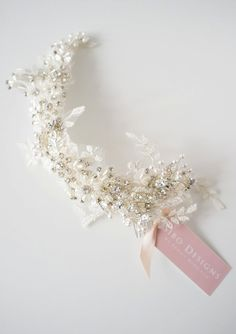 Wedding Headpiece Bridal Headpiece Crystal Lace от sibodesigns