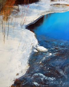 David Lidbetter& solo show - new paintings at Muse Gallery. Contemporary Landscape, Abstract Landscape, Landscape Paintings, Great Paintings, Beautiful Paintings, Seen, Canadian Art, Monochrom, Winter Landscape