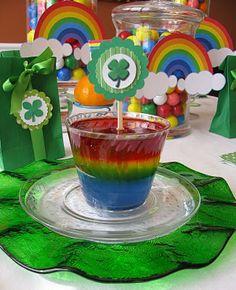 Rainbow Jello! - perfect for St. Patrick's Day!