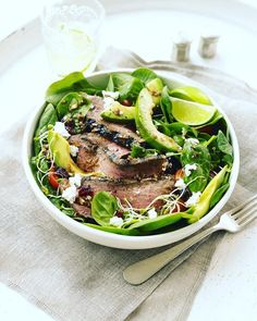 Not only does this salad look delicious but its also packed with powerful ingredients that can help jumpstart your metabolism like lean meat spinach and avocado  Check the link in our bio for even more metabolism boosters out there   via WOMEN'S HEALTH MAGAZINE OFFICIAL INSTAGRAM - Celebrity  Fashion  Health  Advertising  Culture  Beauty  Editorial Photography  Magazine Covers  Supermodels  Runway Models