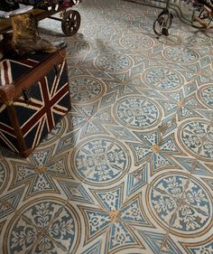 These would make a great statement floor in the back passageway ––– FS Canterbury Topps Tiles