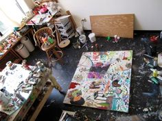 Studio.// oh to have a studio! Where I can be a whirling dervish of mess and my husband won't be huffy.