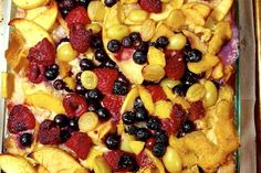 Bread Pudding with Prosecco-ed Fruits recipe on Food52