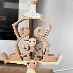 sculpture wood fret used wood: walnut and maple height: 12 cm width: 5 cm thickness: 2 cm original drawing manually cut to the scroll saw hand-sanded Small Wood Projects, Fun Projects, Wooden Man, Wooden Flowers, Bird Sculpture, Scroll Saw Patterns, Picture On Wood, Wood Toys, Diy Woodworking