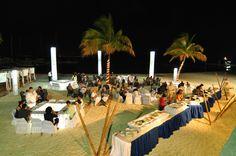 #OceanSpa Night beach buffet Cancun Attractions, Caribbean Sea, Hotel Spa, Beautiful Gardens, Buffet, Dolores Park, Ocean, Vacation, Night
