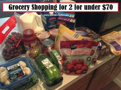 Grocery shopping for 2 for under $70 --A Writer Cooks. View the post at http://www.awritercooks.com/grocery-shopping-and-meal-plan-july-18/