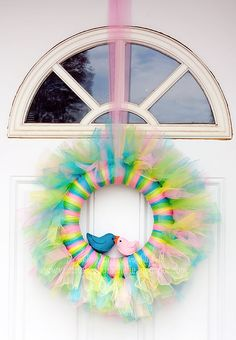 Simple Stitches by Rachelle: {easter wreath with baby chicks}