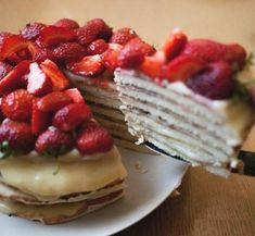 Cheese cake in the pan. Recipe: http://wonderdump.com/cheese-cake-in-the-pan/