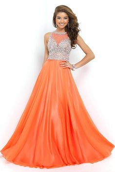 long prom Dress,orange Prom Dress,cheap prom dress,lace applique ...