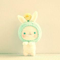 Amigurumi - Keychain - Amigurumei - Haru-chan and Baby Chioux - Free Pattern