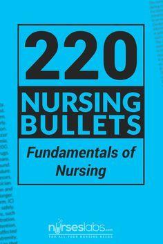 Nursing Bullets: Fun Nursing Bullets: Fundamentals of Nursing Nursing Schools Near Me, Nursing School Notes, Online Nursing Schools, Lpn Schools, Medical School, Nursing Exam, Nursing Books, Nursing Tips, Nursing Profession