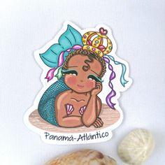 Mermaid Paper Stickers - Mermaid Art - Mermaid Print - Mermaid Planner Stickers - Atlantic Ocean Mermaids - Mermaid Gifts - Black Mermaids Mermaid Art, The Crown, Our Body, Sticker Paper, Fantasy Characters, Beautiful Beaches, Black Women, My Etsy Shop, My Favorite Things