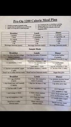 Best #Diet EVER! No gimmick 1200 Calorie Pre-Op Diet Prescribed before #Gastric ...