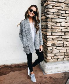 sharing all my favorite winter outfits and where to shop them! lots of on-trend, budget friends pieces for your wardrobe plus great sales going on! Girls Weekend Outfits, Fall Outfits, Fashion Outfits, Fashion Ideas, Women's Fashion, Outfits With Grey Cardigan, New York Outfits, Lauren Kay Sims, Athleisure Outfits