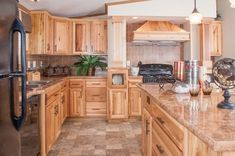 hickory kitchen cabinets modern kitchen wood cabinets tile floor