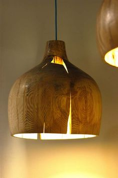 turned ash wood light fitting wooden shade by orinokodesign wood