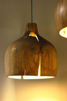 warm wood pendant http://www.luciomorini.com/oversized-pendant-lights-design/cool-oversized-crack-bowl-pendant-lights-by-kwon-jae-min/