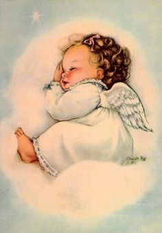 Adorable angel baby-artist unknown