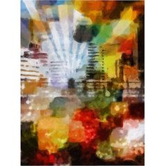 Trademark Art City Paint Canvas Art by Adam Kadmos, 18x24, Multicolor