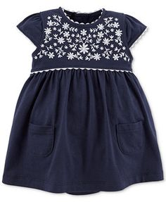 $11.99 at Macy's. Carter's Baby Girls' Embroidered Dress