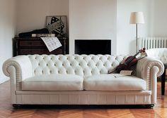 JC Perreault - Living room - Contemporary - Natuzzi - Leather sofa
