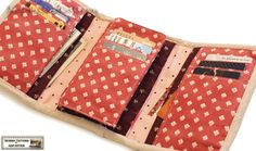 Tri-fold wallet sewing pattern/tutorial for iphone/ipod wallet  -- PDF. $7.50, via Etsy.
