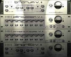 XX b-drum Pure Bassdrum module. Delay, Filter, Pitch. XX percussion Bongos, Toms, Hits,... 8 Sounds per preset, each routable seperately to the 2 Delays, Pitch, Volume. XX hi-hats n' cymb Special feature: 3 full Drumpresets. 8 Sounds per preset, each routable seperately to the 2 Delays, Pitch, Volume. XX snares Pure Snare module. Delay, Filter, Pitch. http://www.vstplanet.com/Instruments/VST_Drums4.htm