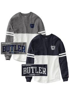 Perfect for tailgates and tipoffs! Butler University Women's Color Block RaRa Long Sleeve T-Shirt