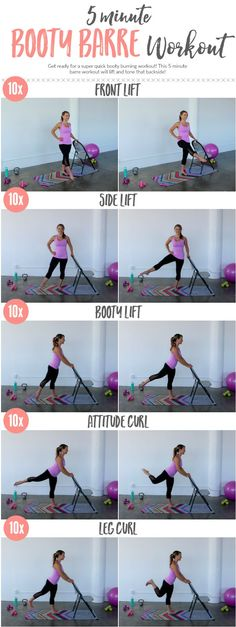 Tone up that Booty with this quick 5 minute Barre Workout!