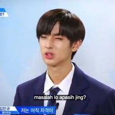 (i) Kak Eunsang ✓ Memes Funny Faces, Funny Kpop Memes, Cute Memes, Mingyu, Cheesy Lines, All Jokes, K Meme, Girl Life Hacks, Funny Boy
