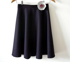 Cashmere wool skirt