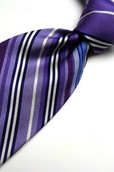 Hickey Freeman Hand Tailored Men's Tie Striped 100 Silk Woven Necktie | eBay