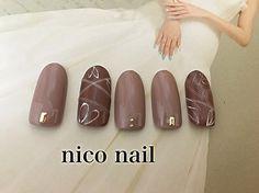 浜松市 中区 自宅ネイルサロン nico nail ニコネイル:シックなラインアートネイル