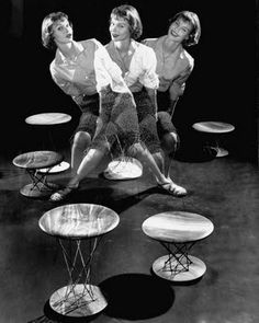 size: Photographic Print: Multiple Exposure Showing Woman Oscillating on a Teeter Seat Designed by Isamu Noguchi by Eliot Elisofon : Artists Multiple Exposure, Double Exposure, Rural Studio, Isamu Noguchi, Life Magazine, Old Pictures, Vintage Ads, Find Art, Framed Artwork