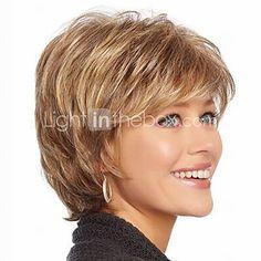 Short Hair Wigs White Women European Synthetic Black Women Wigs Short Wigs - CAD $25.20