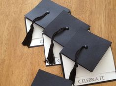 If youd like a SAMPLE of the card - this is your listing! I will send a finished invitation with random text in it - not the custom text for your event Handmade, graduation cap styled invitation - complete with tassel. Sure to make an impression as they are ADORABLE!! The mortarboard