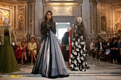 """In the picturesque Church consecrated century Santa Maria di Loreto in Rome, the designer Michele Miglionico with the elegance and tradition of his Haute Couture he celebrated the event """"Madonne Lucane""""."""