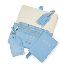 The Aspinal luxury travel collection comprises of gorgeous matching luggage tags, a passport cover & travel wallet. Travel Kits, Packing Tips For Travel, Travel Essentials, Ankara Bags, Orlando Travel, Luxury Lifestyle Women, Luxury Purses, Leather Luggage Tags, Travel Accessories