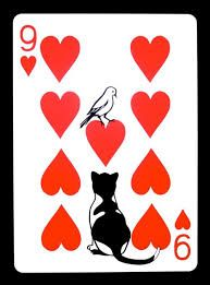 """ncyclopedia: """" Year Week The Nine of Hearts Paper x Copyright © 2012 Emmanuel Jose. All Rights Reserved. """" Truly stunning deck of cards by Emmanuel Jose. The Curator Deck Bridge Card Game, Playing Cards Art, Cat Doodle, Photocollage, Cat Cards, Paper Hearts, Art Plastique, Deck Of Cards, Card Games"""