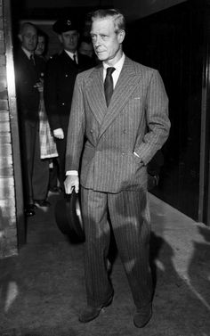 Flannel DB Suits And Suede Shoes Season Is Here. The Duke of Windsor.