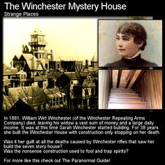 Built to confuse the ghosts that Sarah Winchester believed were plaguing her? Or just the result of a 'guilty' mind? Head to this link for the full article: http://www.theparanormalguide.com/1/post/2012/11/the-winchester-mystery-house.html