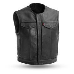 Men Armor Distress Brown Leather SOA Motorcycle Concealed Carry Club Vest M