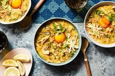Arroz Caldo With Collards and Soy-Cured Egg Yolks Recipe - NYT Cooking